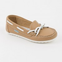Camel Leather Boat Shoe