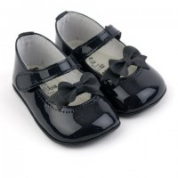 Patent Bow Mary Jane Pram Shoe