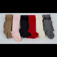 Tights with Velvet Bows