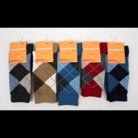 Diamond Pattern Knee Length Socks