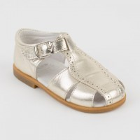 Leather Spider Sandal (Silver & Gold)