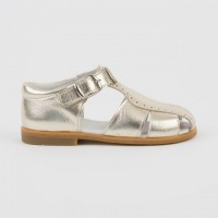 CL-10300 Nens Gold Leather Spider Sandal