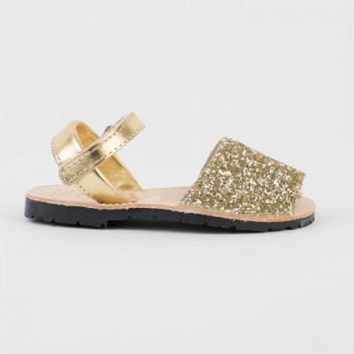 7507 Silver and Gold Mix Glitter Spanish Sandals