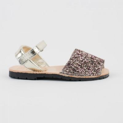 7507 Pink Glitter Spanish Sandals