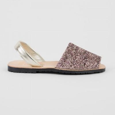 7505 Pink Glitter Spanish Sandals