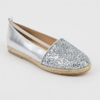 Glitter and Leather Espadrilles