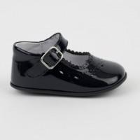 1532 Navy Patent Mary Jane Pram Shoe