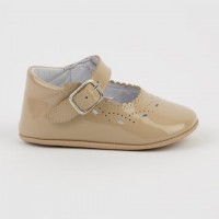 1532 Camel Patent Mary Jane Pram Shoe