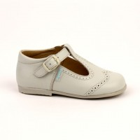 507 Beige Leather T-Bar