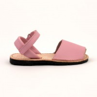 7507 Pink Leather Spanish Sandals