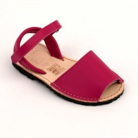 Fuscia Leather Spanish Sandals