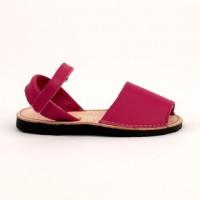 7507 Fuscia Leather Spanish Sandals