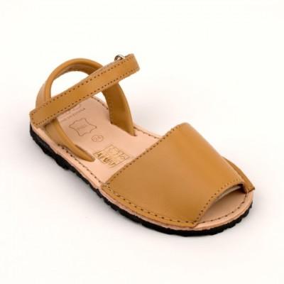 7507 Camel Leather Unisex Spanish Sandals
