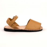 7507 Camel Leather Unisex Spanish Sandals