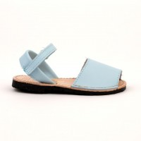 7507 Pale Blue Leather Unisex Spanish Sandals