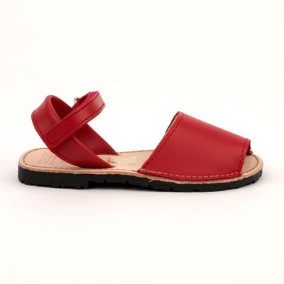 7507 Red Leather Spanish Sandals