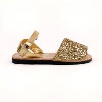 7507 Gold Glitter Spanish Sandals