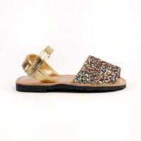 7507 Multi Glitter Spanish Sandals