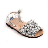 Sparkly Glitter Spanish Sandals in Silver, Gold & Multi