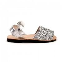 7507 Silver Glitter Spanish Sandals