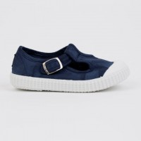 20410 Nens Navy Distressed Canvas T-Bars