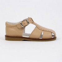 120-W Nens Camel Leather Spider Sandal