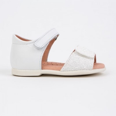 94-E Nens White Glitter Open toe Sandals