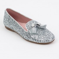 Glitter Slipper Shoe with Tassels