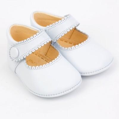 Leather Mary Jane Pram Shoe