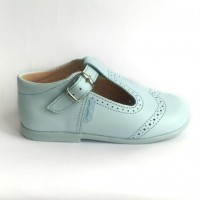 507 Pale Blue Leather T-Bar
