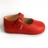 500 Red Leather Mary Jane