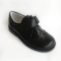 Leather Velcro School Shoes