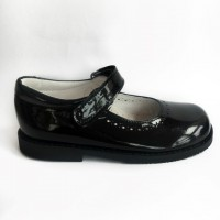TI554 Black Patent Mary Jane School Shoe