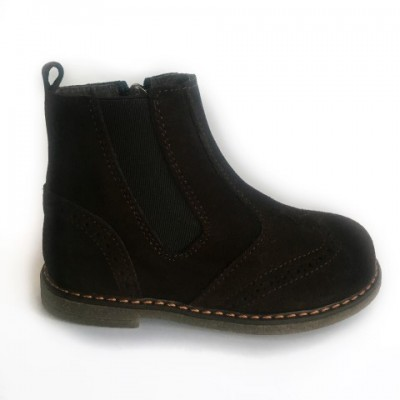 219-H Nens Brown Suede Chelsea Boot
