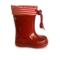 W10105 Igor Red Striped Wellies