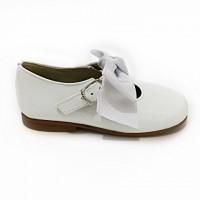 4923 White Patent Bow Mary Jane
