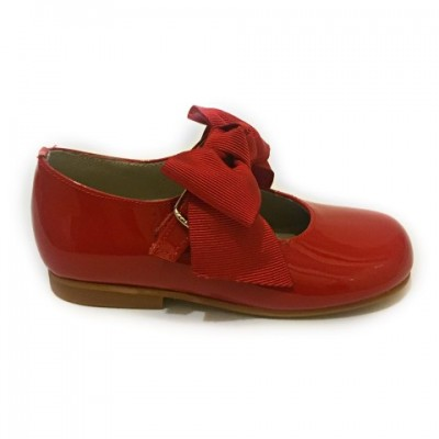 4923 Red Patent Bow Mary Jane