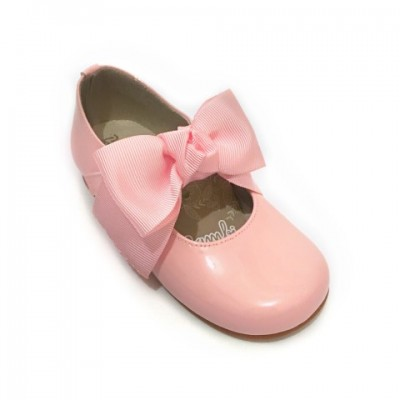4923 Pink Patent Bow Mary Jane