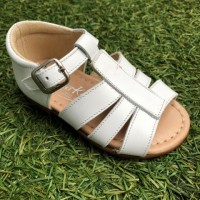 137785A Leather 3 Strap Open Toe  Sandal