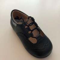 504 Navy Leather Lace up Shoe