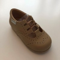 504 Camel Leather Lace up Shoe