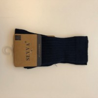 Navy Ribbed Knee High Socks