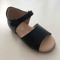 92-P Nens Navy Leather Open Toe Sandal