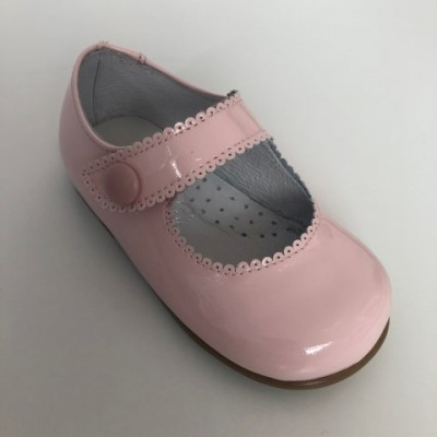 179-P Nens Pink Patent Mary Janes