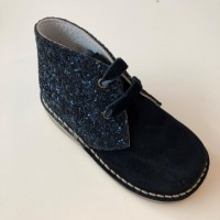 145 Nens Navy Suede and Glitter Desert Boots