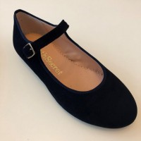 A-2840 Ruth Navy Suede Mary Janes