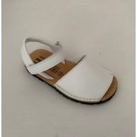 202 White Leather Unisex Spanish Sandals