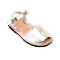 Metallic Leather Spanish Sandals