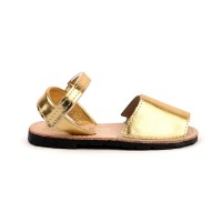 7507 Gold Leather Spanish Sandals