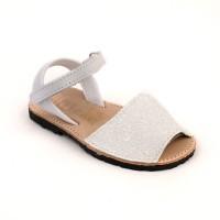White Glitter Spanish Sandals